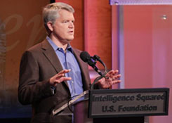 W Keith Cambell speaking at Intelligence Squared Debate